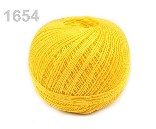 10pc 1654 Yellow Daffodil Cotton Yarn Snow-White Nitarna Czech Rep, Crochet and Embroidery Yarns, Knitting, Crochet, Haberdashery