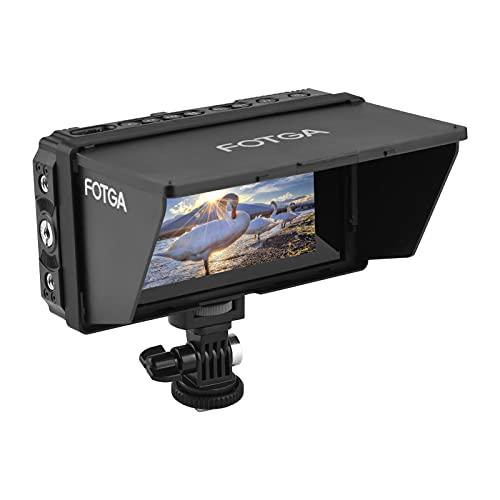 Field Monitor, E50 4K On-camera Field Monitor 5-inch Touch IPS Screen 2500nits with HDMI 3D LUT USB Upgrade for DSLR…