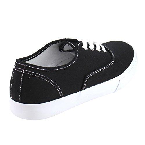 Sneaker Fashion Platform Casual Da Donna Di Soda Nero / Bianco