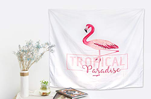 - Mintime Flamingo Tapestry, Wall hangings White & Pink Watercolor Printed Nature Flamingo Large Wall Tapestry for Home Dorm Decor(130X150CM, 2-Year Warranty)(White-02)