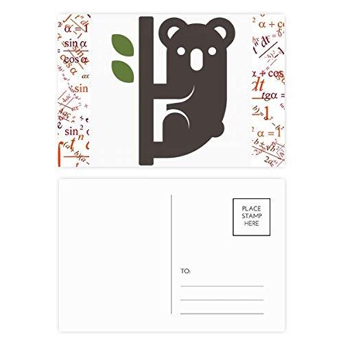 Price comparison product image Silhouette Australia Koala and Eucalypt Formula Postcard Set Thanks Card Mailing Side 20pcs