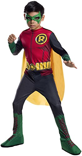 [DC Superheroes Robin Costume, Child's Small] (Kids Batman And Robin Costumes)