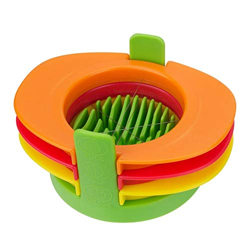 Hannah Dean 3PCS Easy Manual Egg Slicing No Power, No Noise For Sandwiches, Salads Lunch Egg Slicer With Wedges Halves by Hannah Dean