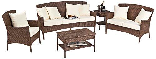 Panama Jack PJO-7001-ATQ-5PLS 5 Piece Key Biscayne Lounge Chair/Loveseat/Sofa/Coffee Table/End Table with Cushions, Sunbrella Canvas Jockey (Key Biscayne Sofa)