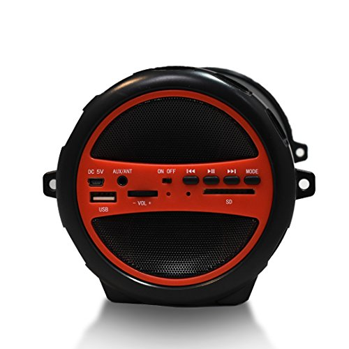 "AXESS Portable Bluetooth 2.1 Hi-Fi Cylinder Loud Speaker Built-In 6/"" Sub Blue"
