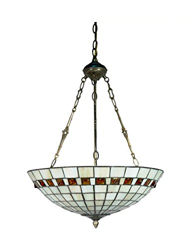 Dale Tiffany Lamps STH17122 Reid Inverted Tiffany Pendant - Dale Tiffany Hanging Pendant Lamp