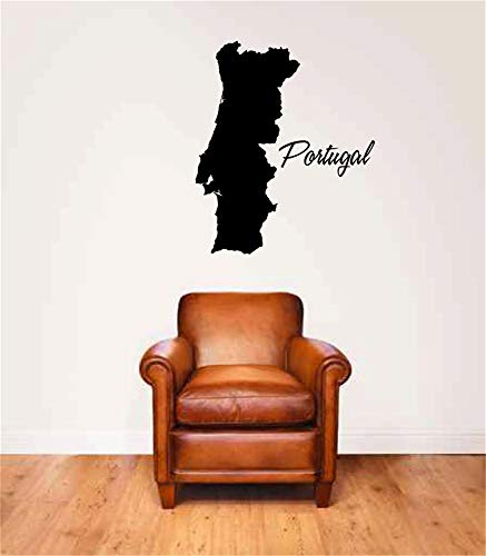 dddena Wall Sticker Removable Home Decor Wall Vinyl Decals Portugal Country Map for Living Room or -