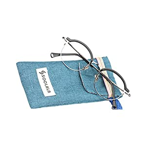 SOOLALA Vintage Quality Round Half Frame Reading Glass Prescription Eye Glass Frame, MatteBlack, x0