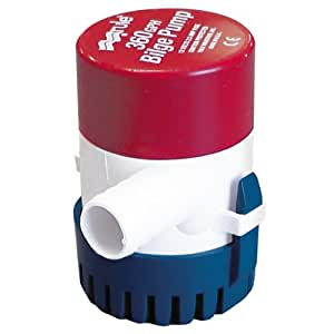 Rule 24 Marine Rule 360 Marine Bilge Pump (360-GPH, 12-Volt),Red/White/Blue