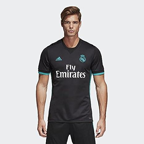 96beeb6ff5bc0 Adidas Men  s Real Madrid Away Soccer Jersey 2017 2018 (Negro ...