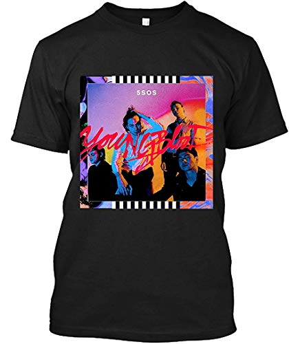 KimberlyLWilson Youngblood-5 Seconds of Summer T-Shirt for Men,Black,M