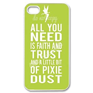 Custom Colorful Case for Iphone 4,4S, Faith and Trust Cover Case - HL-705534