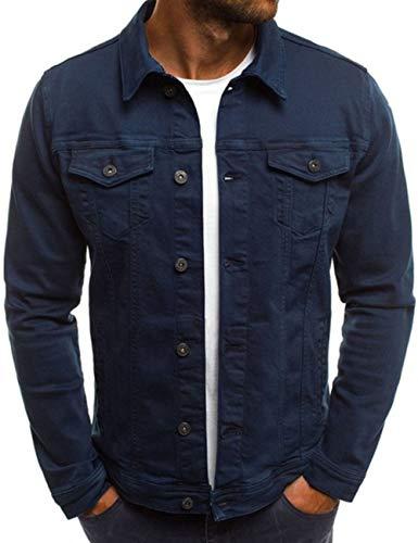 SOMTHRON Men's Oversize Cozy Regular Fit Utility Pocket Overshirt Long Sleeve Slim Fit Button Up Denim Field Shirt Jacket(ZQ-XL)