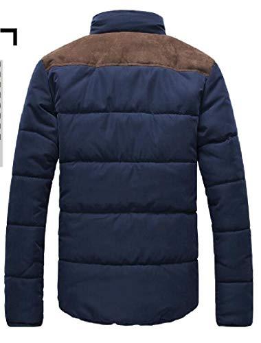 Coats Mens TTYLLMAO Outwear Warm Collar Packable Down Winter Navy Jacket Blue Stylish Stand 8xTqFdvT