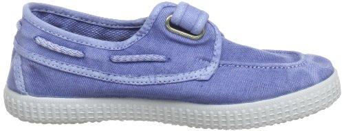 Bisgaard Schuh mit Klettverschluss 88313 - Zapatos de cordones de lona para niños Azul (Blau (ciel 4D))