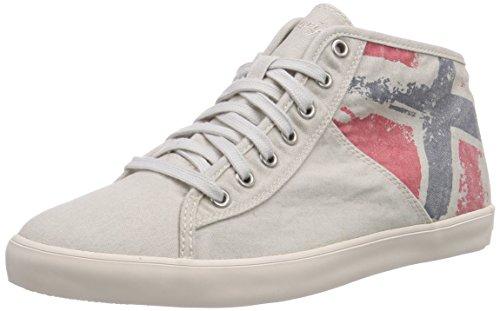 NAPAPIJRI FOOTWEAR Claire - zapatillas deportivas altas de lona mujer blanco - Weiß (moonbeam beige N21)