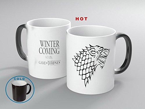 Miracle Mugs(Tm) Game of Thrones Winter Is Coming Heat Sensitive Mug