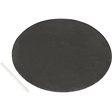 14  Round Slate Cheese Board and Serving Tray with Slate Chalk by Home & Comfort