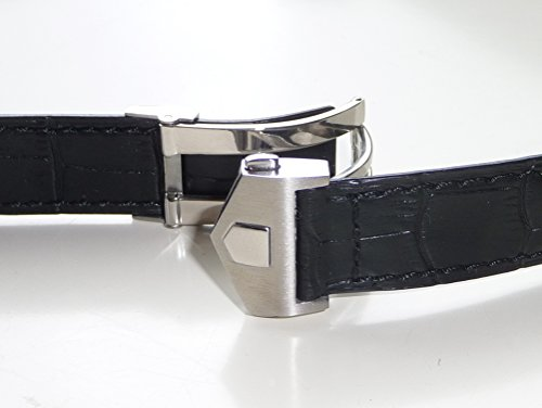 20mm Black watch Band Strap w/Clasp replacement TAG Heuer by EZwatchshop (Image #4)