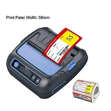 CICIN Impresora térmica Bluetooth de 80 mm, Impresora de Etiquetas ...