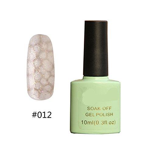 Hot Sale !!! Led Lamp UV Gel Polish Soak Off Top coat Snake Skin Style Diy White #012