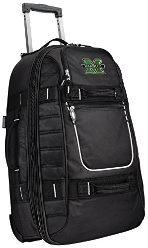 Small Marshall University Carry-On Bag Wheeled Suitcase Luggage Bags by Broad Bay