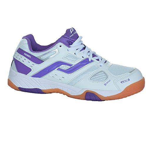 Pro Touch Rebel W para mujer zapatillas de zapatos White - Purple Blanco - blanco