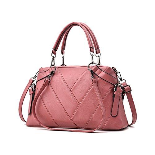 Vintage color Bolsos Mujer Pink Mano Cuero De Hombro Uzanesx Pink YCAxqwFvx