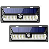 SUNTOLL Solar Lights Outdoor, 30 LED Solar Lights with 270° Wide Lighting Angle, Wireless Motion Sensor Solar Lights, IP65 Waterproof Security Solar Lights for Yard, Garage, Porch, Pathway(2 Pack) Review