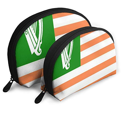 Portable Makeup Organizer,Cosmetic Bag,Portable Travel Organizer Gallery Irish American Flag Pouch Clutch Organizer For Women