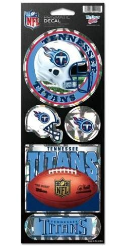 Tennessee Titans Vinyl (NFL Tennessee Titans Prismatic Stickers, Team Color, One Size)