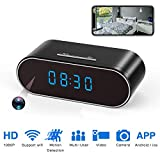 Hidden Spy Camera,1080P WiFi Mini Camera Clock Wireless Security Cameras Video Recorder for Home Covert Monitor Remote View Nanny Cam 140°Angle Night Vision Motion Detection