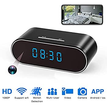 Amazon.com : Luxnwatts Hidden Camera Clock WiFi Spy Camera ...