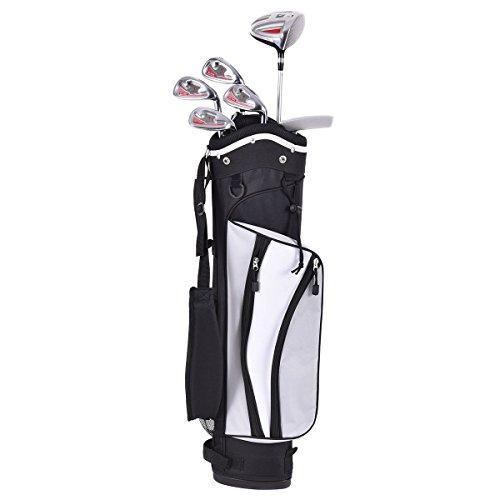 costzonジュニア子供用ゴルフクラブセット6PieceウッドアイアンパターW /スタンドバッグAges 11–13スポーツ ブラック