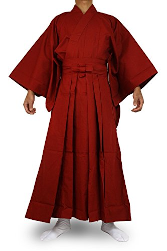 Samurai Costume Men (Edoten Japanese Samurai Hakama Uniform RD-RD)