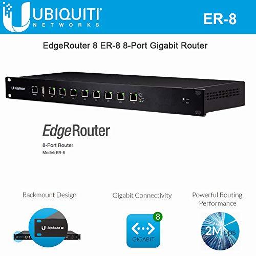 Router Chassis - EdgeRouter 8 ER-8 8-Port Router Gigabit Advanced Network 2 Million pps