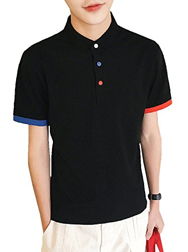 Heaven Days(ヘブンデイズ) ポロシャツ ゴルフシャツ トリコロールカラー 無地 シンプル 半袖 メンズ 1707G0315