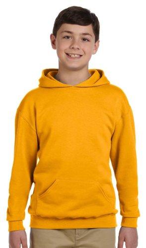 Jerzees Youth 8 oz., 50/50 NuBlend Fleece Pullover Hood, Medium, GOLD