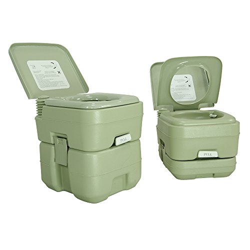 PARTYSAVING 5.3 Gallon Travel Outdoor Camping Boat Portable Toilet Potty,...