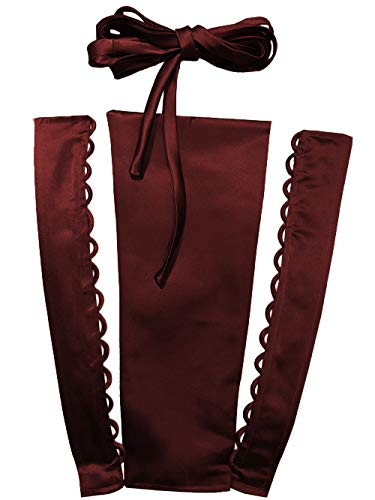 (YCShun Women's Wedding Dress Zipper Replacement Adjustable Fit Satin Corset Back Kit Lace up for Prom Dress Dark Red 14 Inches)