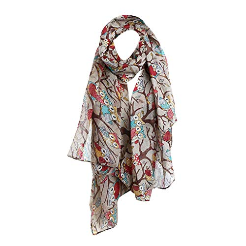 Chaofanjiancai Women Maple Leaf Print Pattern Lace Long Scarf Ladies Warm Wrap Shawl