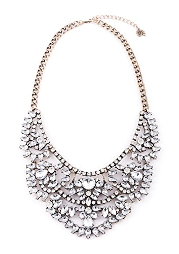 Happiness Boutique Vintage Statement Necklace | XXL Oversized Wedding Necklace in Gold Nickel and Lead -