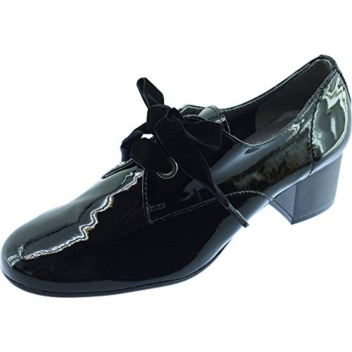 Espagne Richelieu Bottier Chaussures Folie's Lacets amp; Femme Fabriqué Vernis Marque Macao Confortable Talon Noir Souple Rubans 5qnwSOtn