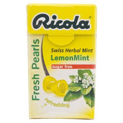 Ricola Swiss Herbal Candy 25g. (Pack of 3) (Lemonmint Sugar Free) (Candy Ricola)