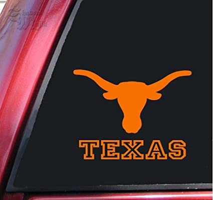 Amazon Texas Longhorn Ut Vinyl Decal Sticker 6 X 46 Orange