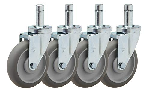 "Caster Barn Set of 4 Casters NEW 5/"" Caster set for Metro Wire Shelving"