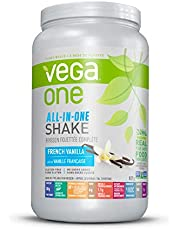 Vega One All-In-One Plant Based Protein Powder French Vanilla (20 Servings, 827g) - Plant Based Vegan protein, Non Dairy, Gluten Free, Non GMO