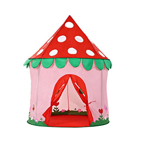 ALPIKA Girls Princess Castle Play Tent Indoor Outdoor Kids Playhouse for Children Gift with Backpack
