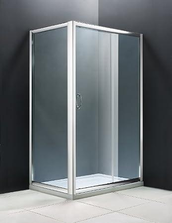 Vidrio templado, diseño de Cabina de ducha 130 x 70 (2 o 3 lados): Amazon.es: Hogar