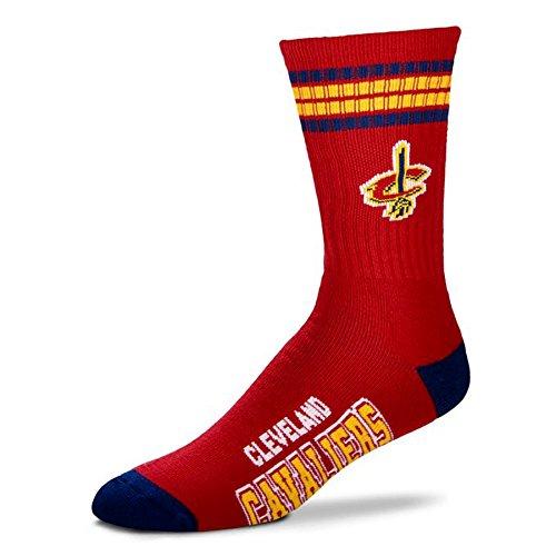 NBA 4 Stripe Deuce Socks - Men's Large (fits 10-13) (Cleveland Cavaliers)